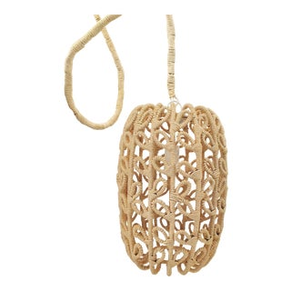 Boho-Chic Jute Pendant Light