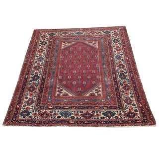 """Antique 1930's Malayer Rug - 5' x 6'1"""""""