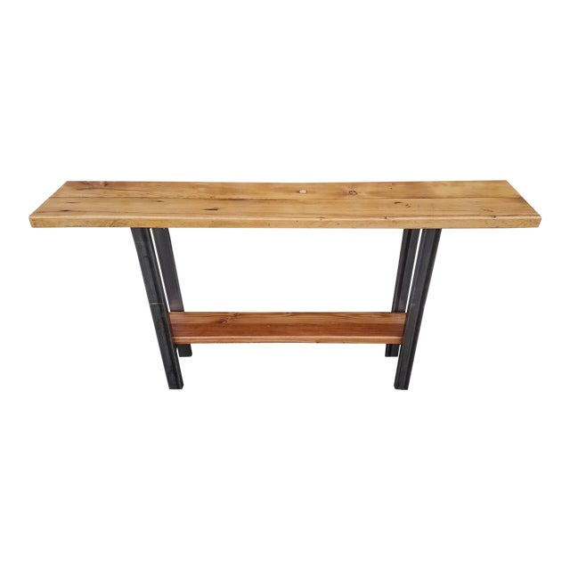Reclaimed Wood Console Table - Image 1 of 6