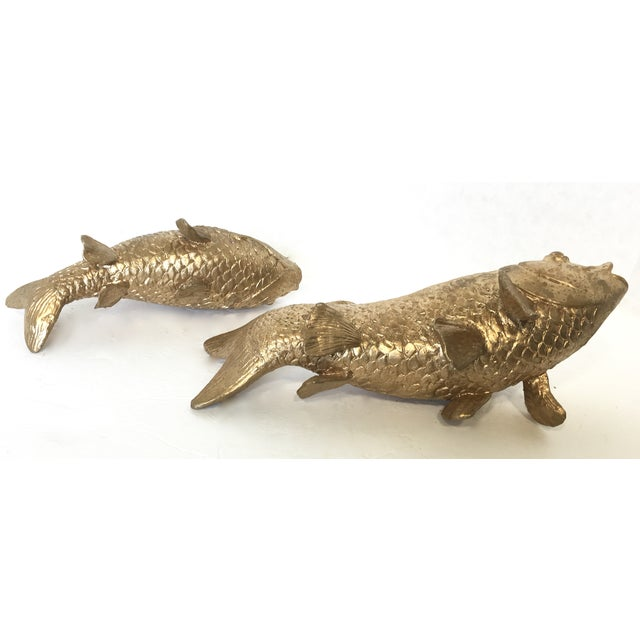 Vintage Gilt Koi Fish - Pair - Image 5 of 5