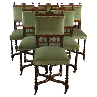 Antique Henry II Flemish Dining Chairs - Set of 6