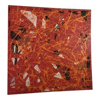 Vintage Abstract Splatter Painting