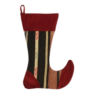 Large Kilim Christmas Stocking | Frosty