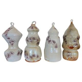 Artisan Pottery Bottles- Set of 4