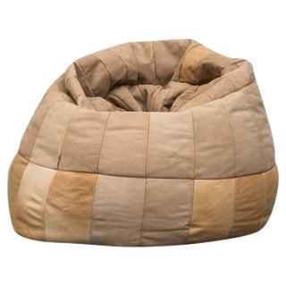 De Sede Style Leather Bean Bag Chair