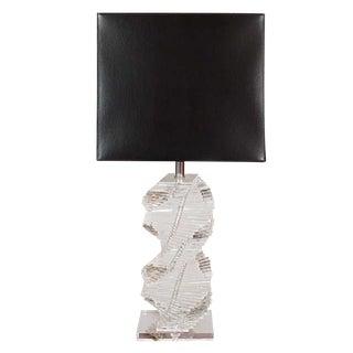 Sculptural Lucite Lamp