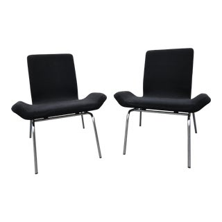 Swedish Modern Bjorn Dahlstrom Cbi Gondola Lounge Chairs - A Pair