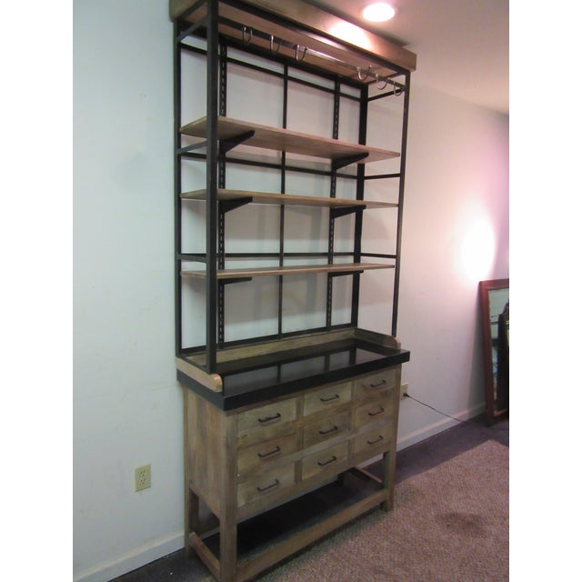 Inudstrial Back Hutch & Stone Type Top - Image 3 of 11