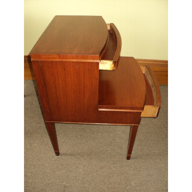 Antique Federal Style Mahogany Nightstands - A Pair - Image 4 of 8