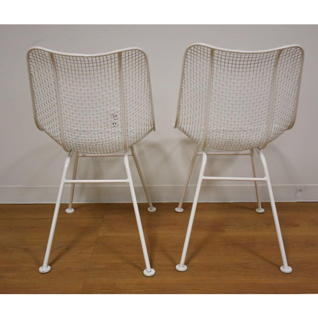 Russell Woodard Sculptura White Patio Dining Chairs Set