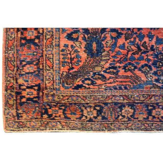 """Antique Persian Pink Sarouk Rug - 3'5"""" X 4'10"""""""