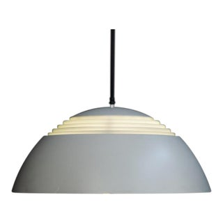 Arne Jacobsen Large Gray Lamp for Louise Poulsen