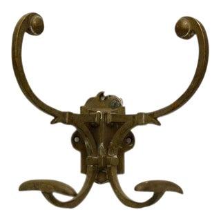 Ornate Bronze Hall Tree Hook