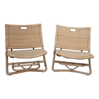 Portable Woven Palisades Chairs - A Pair