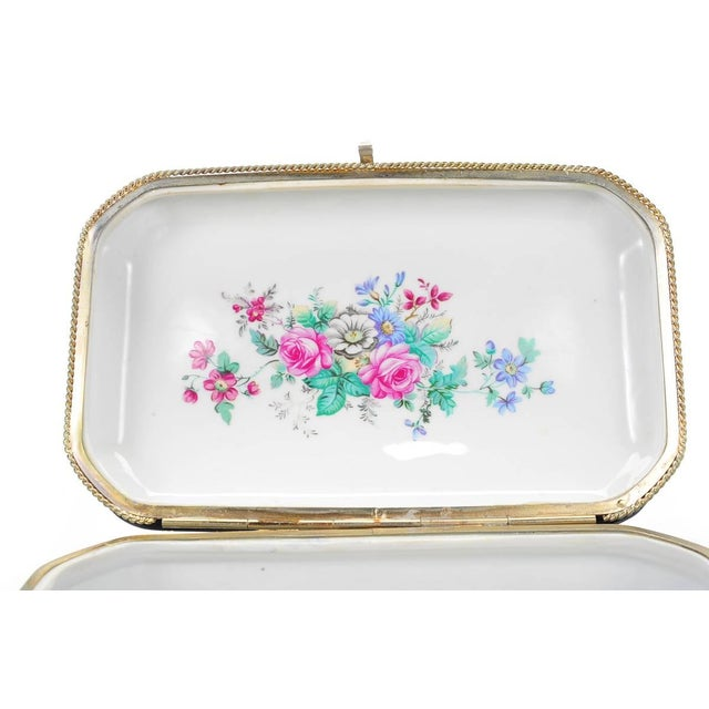 German Painted Porcelain Jewelry Box - Image 4 of 10