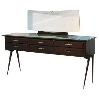 Vittorio Dassi-Attributed Rosewood Cabinet & Mirror