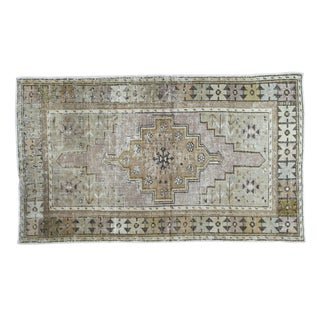 "Distressed Oushak Rug Runner - 3'5"" X 5'9"""