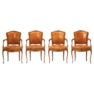 Vintage French Louis XV Style Armchairs - Set of 4