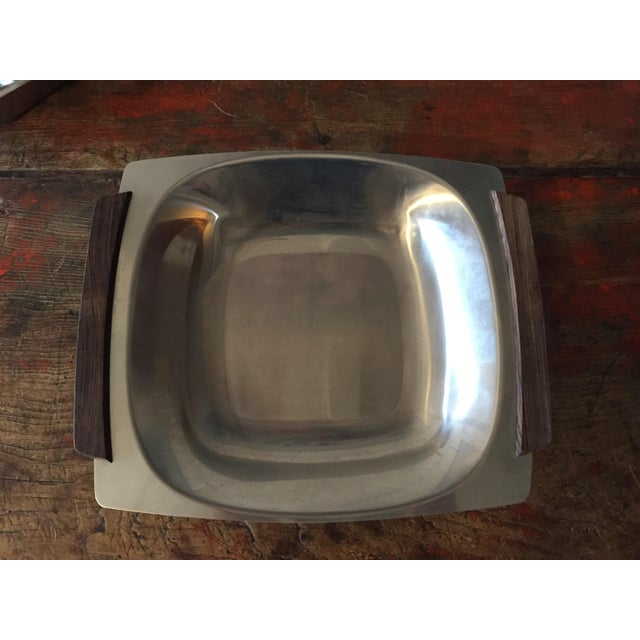 Danish Modern Stainless Butter Dish & Tray - Image 3 of 8
