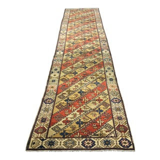 Bellwether Rugs 1950s Vintage Turkish Oushak Runner - 3′ × 12′11″