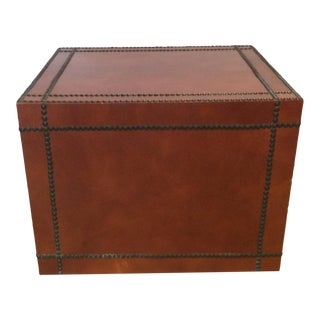 Leather-Faced Side Table