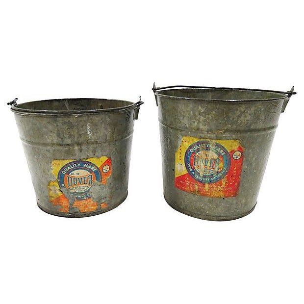 Dover Hand Pails - A Pair - Image 2 of 2