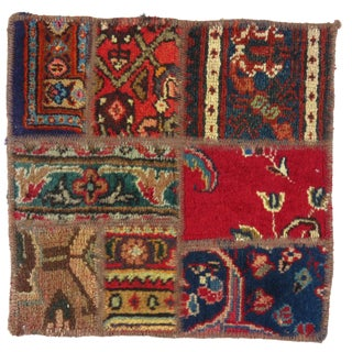 """Pasargad N Y Persian Patch-Work Decorative Hand-Knotted Area Rug - 1'4""""x1'4"""""""