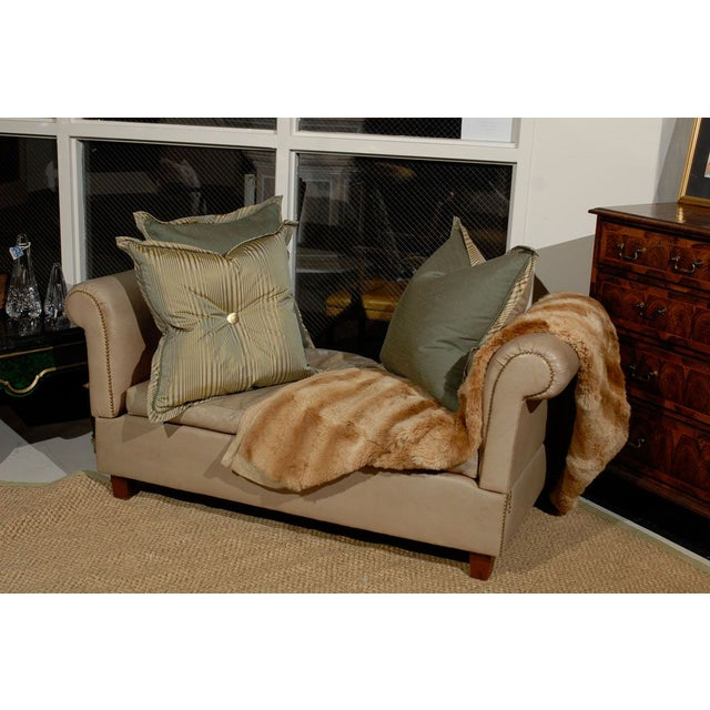 French Convertible Leather Daybed - Image 6 of 6