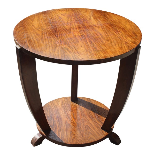 Beautiful French Art Deco Coffee Table or Side Table Exotic Walnut, circa 1940s - Image 1 of 10