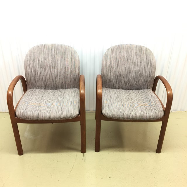 Mid-Century Gunlocke Walnut Chairs - A Pair - Image 6 of 11