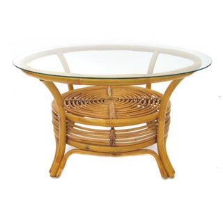Round Rattan Coffee Table
