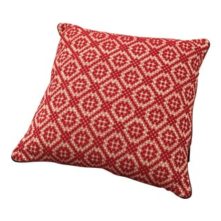 Red Italian Artisan Pillow