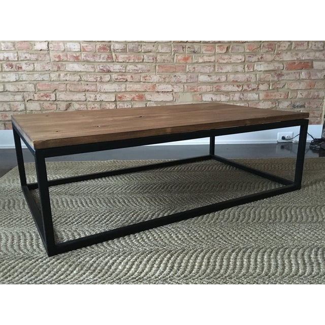 ABC Carpet & Home Wood and Steel Coffee Table - Image 3 of 8