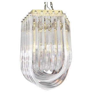 Double U Lucite Chandelier
