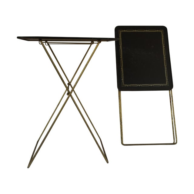 Midcentury Folding Tables - A Pair - Image 1 of 8
