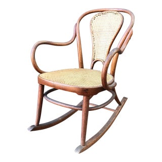 Antique Bentwood Cane Rocking Chair