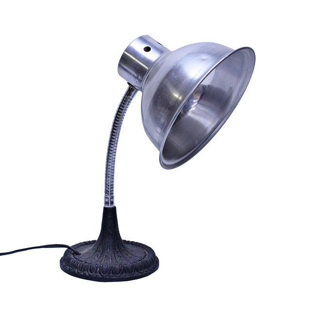 Image of Vintage Desk Lamp with Cast Iron Base