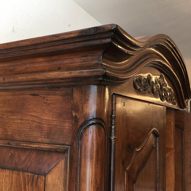 French Provincial Style Media Armoire Cabinet - Image 9 of 11