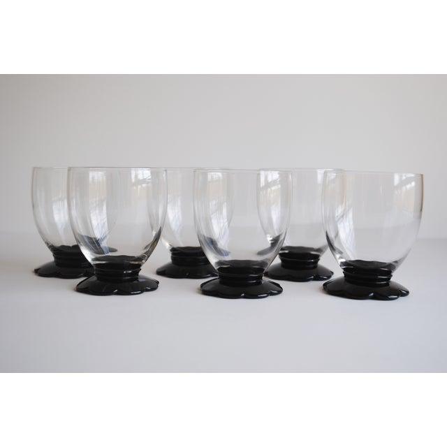 Black Scalloped Cocktail Glasses, Set of 6 - Image 3 of 8