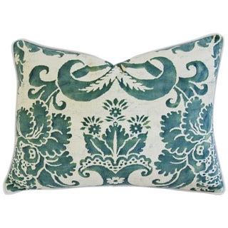 Italian Fortuny Glicine & Velvet Pillow