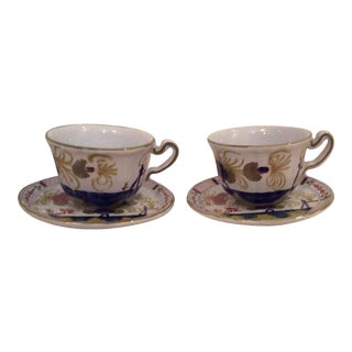 Faenza Italy Cups & Saucers - A Pair