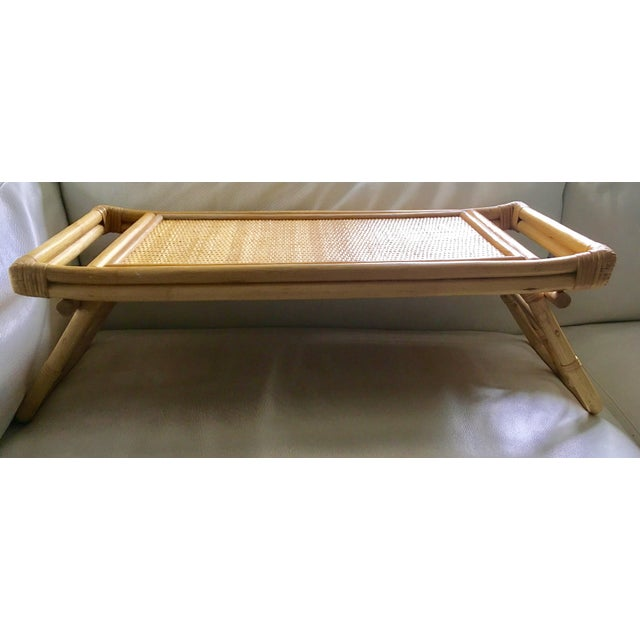 Mid-Century Breakfast in Bed Bamboo Tray - Image 3 of 8