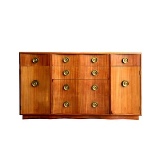 Art Deco Wood & Brass Credenza