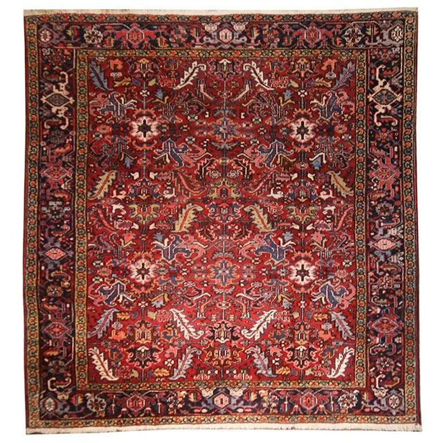 Vintage Persian Heriz Rug - 7′1″ × 8′10″ - Image 1 of 2