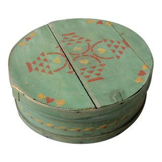 Antique Painted Band Box