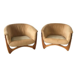 Adrian Pearsall Bucket Chairs - a Pair