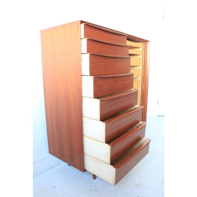Vintage Falster Mid-Century Modern Teak Highboy Dresser - Image 3 of 9