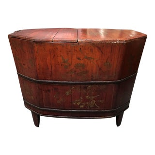 Vintage Chinese Wooden Soaking Tub