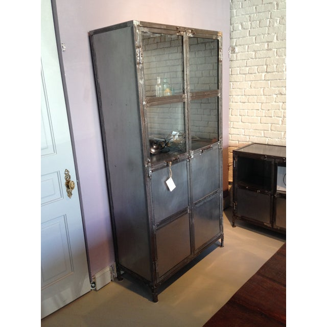 French Industrial Reclaimed Iron & Steel Cabinet - Image 2 of 3