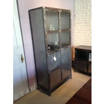 Image of French Industrial Reclaimed Iron & Steel Cabinet